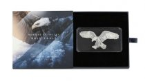 2019 Solomon Islands Hunters of the Sky - Bald Eagle Shaped 1 oz Silver Reverse Proof $2 Coin GEM Proof OGP