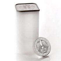 Roll of 10 - 2019 Great Britain 2 oz Silver Queen's Beasts - Falcon of the Plantagenets £5 Coins GEM BU