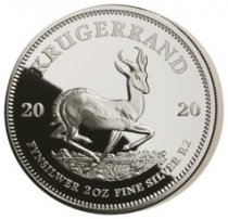 2020 South Africa 2 oz Silver Krugerrand Proof R2 Coin GEM Proof