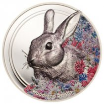 2019 Mongolia Woodland Spirits - Rabbit High Relief 1 oz Silver Colorized Prooflike 500 Coin GEM Prooflike OGP