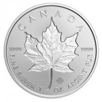 2019 Canada 1 oz Silver Maple Leaf - Incuse $5 Coin GEM BU