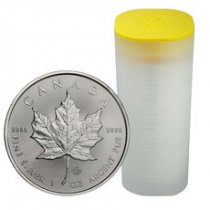 Roll of 25 - 2019 Canada 1 oz Silver Maple Leaf $5 Coins GEM BU
