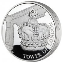 2019 Great Britain Tower of London - Crown Jewels Piedfort Silver Proof £5 Coin GEM Proof