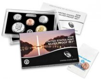 2019 U.S. Silver Proof Coin Set + 2019-W Reverse Proof Lincoln Cent Proof Coin