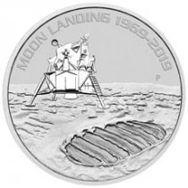 2019-P Australia Apollo 11 Moon Landing 1 oz Silver $1 Coin GEM BU