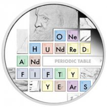 2019-P Tuvalu Periodic Table 1 oz Silver Proof $1 Coin GEM Proof