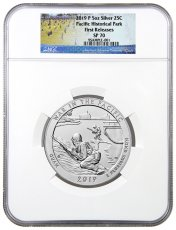 2019-P 25C War in the Pacific 5 oz. Silver America the Beautiful Specimen Coin NGC SP70 FR