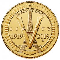 2019-W American Legion 100th Anniversary $5 Gold Commemorative Coin GEM BU OGP