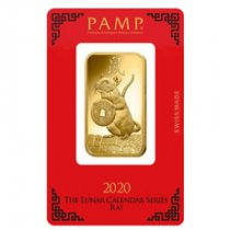 2020 PAMP Lunar Year of the Rat 1 oz Gold Bar In Assay
