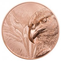 2020 Mongolia Majestic Eagle Ultra High Relief 50 g Copper Proof 250 Togrog Coin GEM Proof OGP