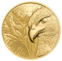 2020 Mongolia Majestic Eagle Ultra High Relief 1/10 oz Gold Proof 1,000 Togrog Coin GEM Proof OGP