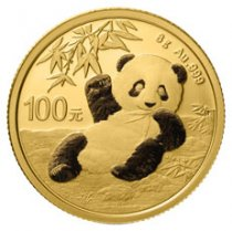2020 China 8 g Gold Panda ¥100 Coin GEM BU
