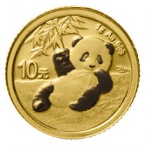2020 China 1 g Gold Panda ¥10 Coin GEM BU
