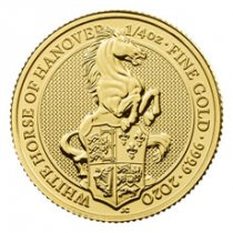 2020 Great Britain 1/4 oz Gold Queen's Beasts White Horse of Hanover £25 Coin GEM BU