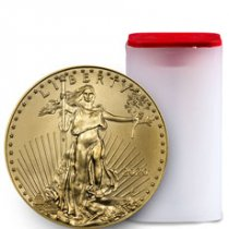 Roll of 20 - 2020 1 oz Gold American Eagle $50 GEM BU