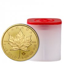 Roll of 10 - 2020 Canada 1 oz Gold Maple Leaf $50 Coins GEM BU
