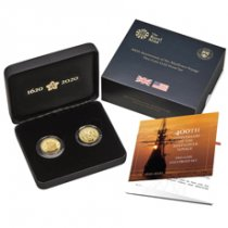 2pc - 2020 GB/US Mayflower - 400th Anniversary of Mayflower Voyage Set 1/4 oz Gold Proof Coins GEM Proof OGP