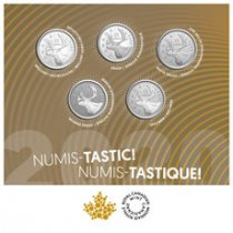 2020 Canada Numis-Tastic - 5-Quarter Set Nickel-plated Steel Multiple Finishes $0.25 Coins GEM OGP