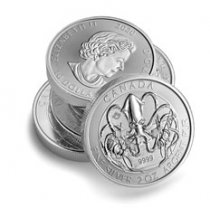 Roll of 14 - 2020 Canada The Kraken - Creatures of the North 2 oz Silver $10 Coins GEM BU