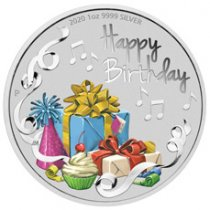 2020 Australia Happy Birthday 1 oz Silver Colorized Proof $1 Coin GEM Proof