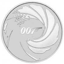 2020 Tuvalu James Bond 1 oz Silver $1 Coin GEM BU