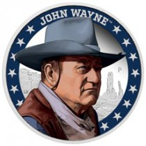 2020 Tuvalu John Wayne Commemorative 1 oz Silver Proof $1 Coin GEM Proof OGP