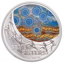 2020 Australia Star Dreaming - The Seven Sisters 1/2 oz Silver Colorized $1 Coin GEM BU