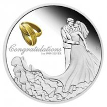2020-P Australia Wedding Congratulations 1 oz Silver Proof $1 Coin GEM Proof