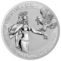 2020 Germania 1 oz Silver 5 Mark Medal GEM Brilliant Uncirculated