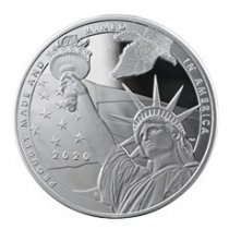 2020 1 oz Silver USA True Patriot Reverse Proof Round GEM Reverse Proof