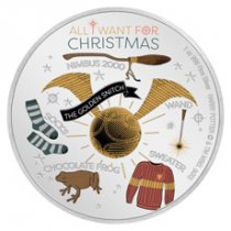 2020 Niue Harry Potter - Season's Greetings 1 oz Silver Colorized Proof $2 Coin GEM Proof OGP
