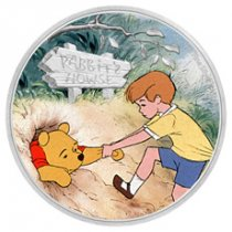 2020 Niue Disney Characters - Winnie the Pooh & Christopher Robin 1 oz Silver Colorized $2 Proof Coin GEM Proof OGP
