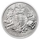 2020 Great Britain 1 oz Silver Royal Coat of Arms £2 Coin GEM BU