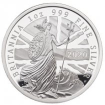 2020 Great Britain Silver Britannia 1 oz Silver Proof £2 Coin GEM Proof OGP
