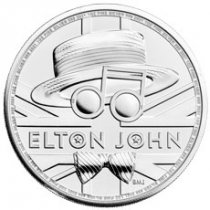 2021 Great Britain Legends of British Music - Elton John 1 oz Silver £2 Coin GEM BU