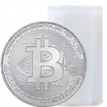 Roll of 20 - 2020 Republic of Chad Fr5,000 1 oz Silver BitCoin Crypto Currency Commemorative Coin GEM BU