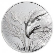 2020 Mongolia Majestic Eagle Ultra High Relief 1 oz Silver Proof 500 Togrog Coin GEM Proof OGP