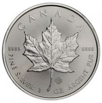 2020 Canada 1 oz Silver Maple Leaf $5 Coin GEM BU