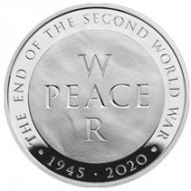 2020 Great Britain End of WWII - 75th Anniversary 28.28 g Silver Proof £5 Coin GEM Proof OGP