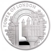 2020 Great Britain Tower of London The White Tower Silver Proof £5 Coin GEM Proof OGP