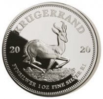 2020 South Africa 1 oz Silver Krugerrand Proof R1 Coin GEM Proof