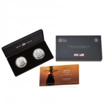 2pc - 2020 GB/US Mayflower - 400th Anniversary of Mayflower Voyage Set 1 oz Silver Proof Coins GEM Proof 400th Anniversary OGP
