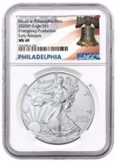 2020-(P) 1 oz Silver American Eagle Struck at Philadelphia $1 Coin NGC MS69 ER Liberty Bell Label
