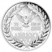 2020-P Australia 75th Anniversary of the End of WWII 1 oz Silver Proof $1 Coin GEM Proof OGP
