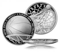 2020-P $1 Basketball Hall of Fame Silver Dollar Proof Coin GEM Proof OGP