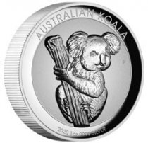 2020-P Australia 1 oz High Relief Silver Koala - Incused Proof $1 Coin GEM Proof OGP