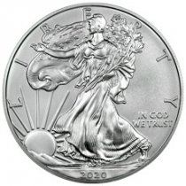 2020-W 1 oz Burnished American Silver Eagle $1 Coin GEM BU