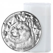 Roll of 20 - 2021 Blockchain Mint DogeCoin Cryptocurrency Commemorative 1 oz Silver Medal GEM BU