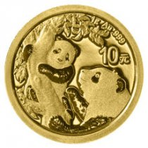 2021 China 1 g Gold Panda ¥10 Coin GEM BU
