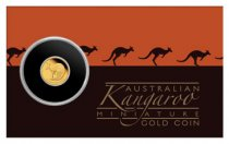 2021-P Australia Gold Kangaroo - Mini Roo 1/2 g Gold Proof $2 Coin GEM Proof in Display Card